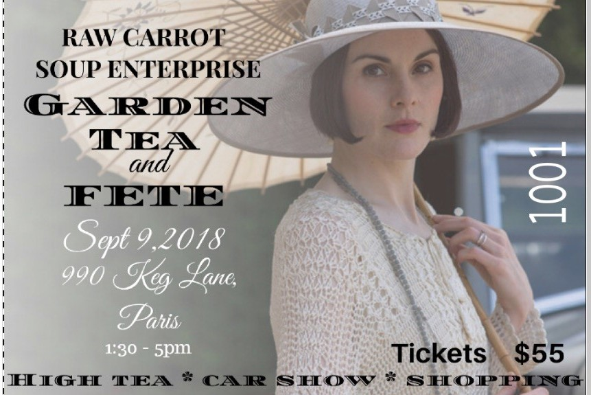 Roaring 20's Garden Tea and Fete – September 9th, 2018!