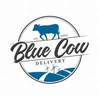 Blue Cow Delivery Logo