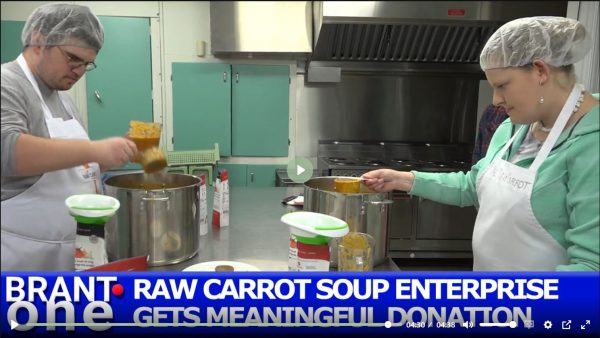 "Corporate purchase of soup a ""win"" for Raw Carrot and Food Bank"