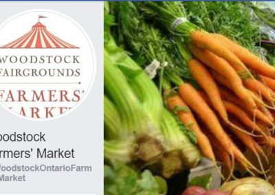Woodstock Farmers Market image, with vegetables.
