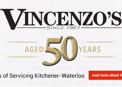 Vincenzo's logo, Waterloo location.